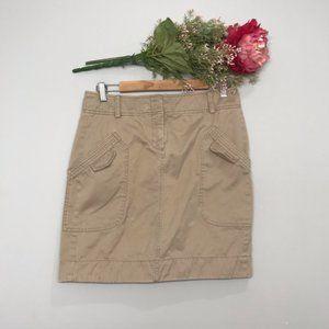 Banana Republic | Tan Cotton Cargo Hiking Skirt